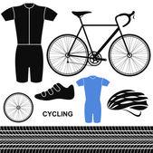 Cycling. Set — Stock Vector