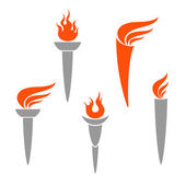 Olympic Torch — Stock Vector