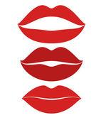 Human lips.  Kiss. Icon set — 图库矢量图片