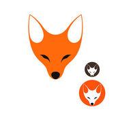 Fox. Set — Stock Vector