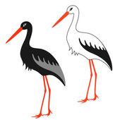 Stork — Vecteur