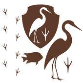 Heron — Stock Vector