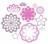 Flower. Icon Set — Stockvector