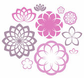 Flower. Icon Set — Vettoriale Stock