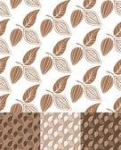 Cocoa. Pattern — Stok Vektör