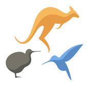 Australská zvířata — Stock vektor