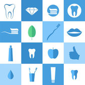Dental hygiene. Icon set — Stock Vector
