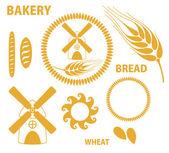 Bakery. Bread. Wheat — Stock Vector