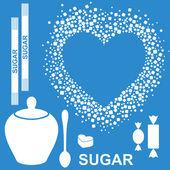 Sugar icons — Stock Vector