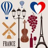 France — Vector de stock