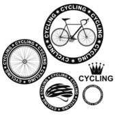 Cycling retro style label — Stock Vector
