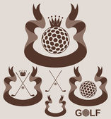 Golf retro style labels — Stock Vector