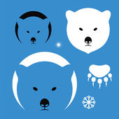 Bear silhouettes on blue — ストックベクタ
