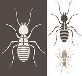 Silhouettes of termites — Stockvector