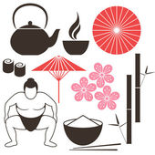 Elements of Japanese culture — Stock Vector
