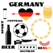Germany collection of labels — Vector de stock
