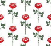 Red rose seamless pattern — Stock Vector