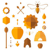 Honey. Icons set — Stock Vector