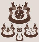 Baseball retro style labels — Cтоковый вектор