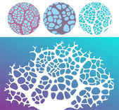 Coral set — Stock Vector