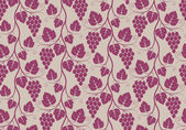 Pattern with grape — Stock Vector