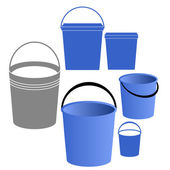 Buckets set — Stock Vector
