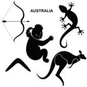 Australian symbols — Stock Vector