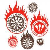 Darts icons — Stockvector