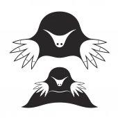 Moles silhouettes — Stock Vector