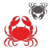 Crabs silhouettes — Stock Vector