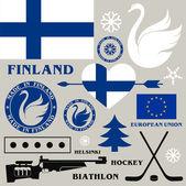 Finland symbols — Stock Vector
