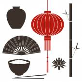 China symbols — Stock Vector