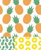 Pineapple textures — Stock Vector