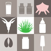 Milk and milk products — Stock Vector