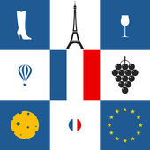 France icons set — Stock Vector