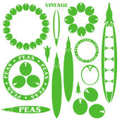 Peas signs set — Stock Vector