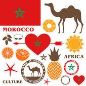 Morocco signs set — Stock Vector