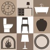 家具套 — 图库矢量图片