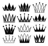 Crowns set — Stock Vector
