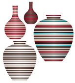 Striped Vases — Stock Vector