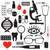 Tıbbı sembolleri — Stok Vektör