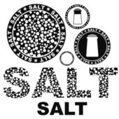 Salt icons — Vettoriale Stock
