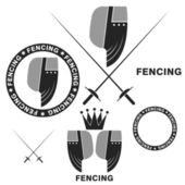 Fencing symbols — Stock Vector