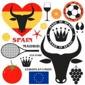 Spain symbols — Stock Vector