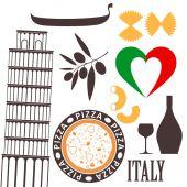 Italy symbols — Stock Vector