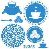 Sugar icons — Stock Vector