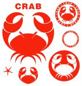 Crab icons — Stock Vector