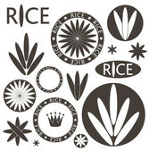 Rice icons — Stock Vector