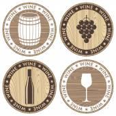 Wine icons — Stock Vector