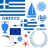 Greece sumbols — Stock Vector
